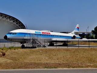 Airliner Sud Aviation Caravelle at the Airbus Museum in Toulouse