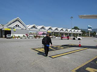 The terminal of the airport of Langkawi in Malaysia