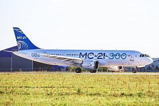 The newest Russian airliner Irkut MC-21-300