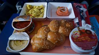 A meal on the Aeroflot flight Moscow-Oslo