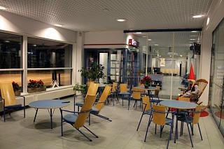 The waiting room at the airport in Kajaani