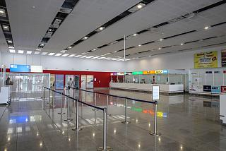The arrivals hall in the new terminal of Burgas airport