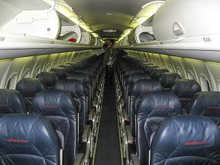The cabin Bombardier Dash 8Q-400 LGW airlines/airberlin