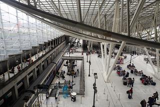 Railway station airport Paris Charles de Gaulle