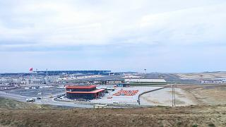 View of the airport complex of the new Istanbul airport