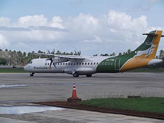 ATR 72 airlines Precision Air to Zanzibar airport