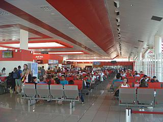 The waiting room in a clean area of terminal 3 of the airport of Havana