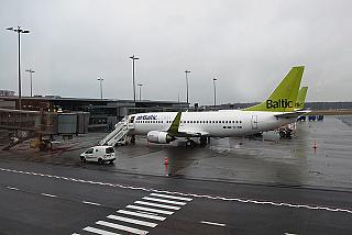 Aircraft Boeing 737-300 airBaltic in Riga airport