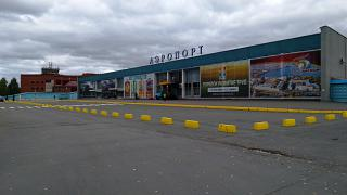 The terminal of the airport of Izhevsk