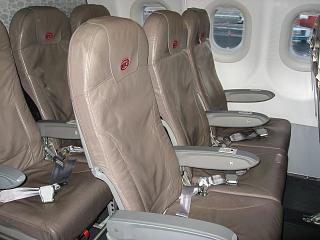 Seats of the aircraft Airbus A320 Niki