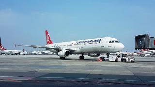 Airbus A321 Turkish airlines in Istanbul Ataturk airport