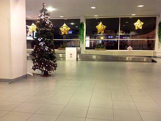 Baggage claim at the airport in Kajaani