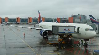 Boeing-767-400 Delta airlines at Sheremetyevo airport