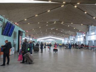In the new passenger terminal of Pulkovo airport