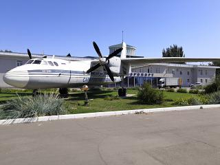Antonov an-24B aircraft in the airport Saratov Central