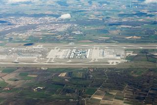 Top view of the Munich airport
