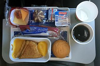 Завтрак на рейсе Москва-Энфида авиакомпании
