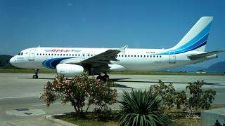 "Airbus A320 airline ""Yamal"" in Tivat airport"