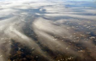 Clouds over the United States