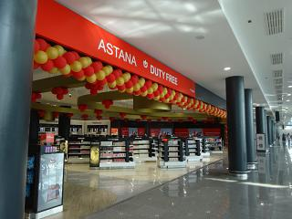 The Duty Free store in the new terminal 1 of the airport of Astana