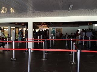 The arrival hall at the airport in Bora Bora