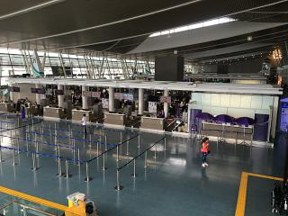 The flight check-in area at the airport Phuket