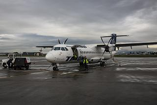 ATR 72-500 airline Tarom at the airport of Sofia