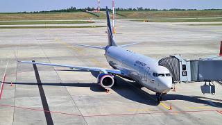 Самолет Боинг-737-800 Аэрофлота (номер VQ-BHW) в аэропорту Платов города Ростов-на-Дону