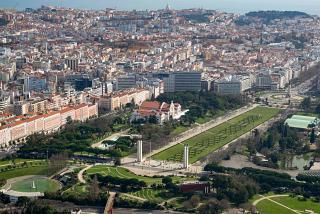 Edward VII Park in the center of Lisbon