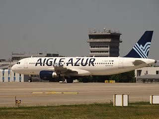 Airbus A320 F-HBAO airline Aigle Azur at the airport Kiev Borispol