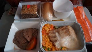 The food on Aeroflot flight Havana-Moscow