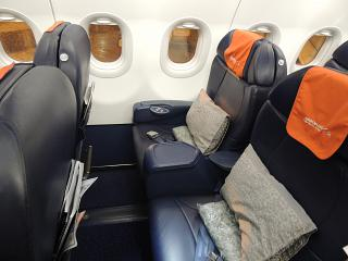 Seats in business class in the Airbus A319 Aeroflot