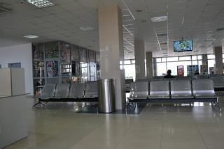 The waiting room at the transit area of the airport Khabarovsk Novy