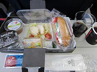 Meals on flight Kyiv-Istanbul Turkish airlines