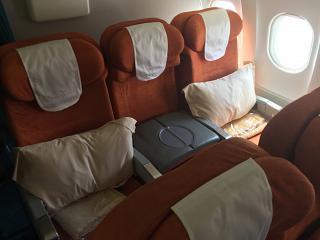 Бизнес-класс в самолете Airbus A319 авиакомпании Air Mauritius