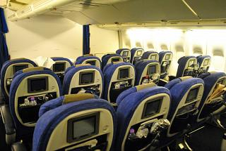 "Salon premium economy class ""World Traveller Plus"" the Boeing-747-400 British Airways"