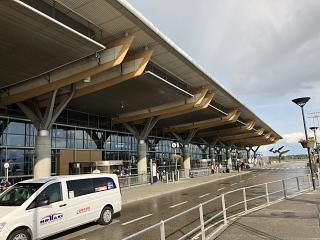 The passenger terminal at Oslo airport Gardermoen