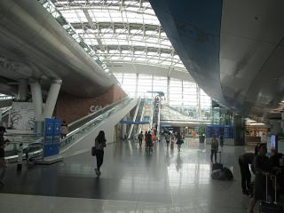 Railway station in the same Incheon airport in Seoul