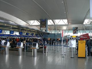 Reception Delta Air Lines in terminal 4 of JFK airport in new York