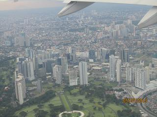 Views of Manila during takeoff