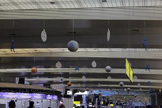 Новогоднее украшение терминала D аэропорта Шереметьево