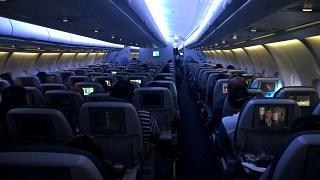 Салон самолета Airbus A330-300 Катарских авиалиний