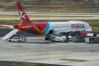 Airbus A320 авиакомпании Air Malta в аэропорту Мальта