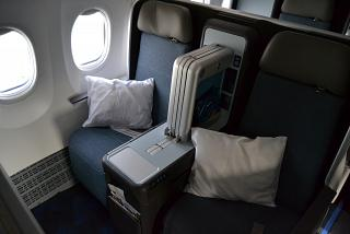 Business class in the Boeing 737 MAX 8 of airline Flydubai