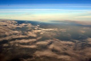 Morning clouds over the Atlantic ocean