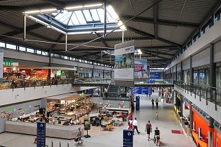 Inside the Terminal B of Leipzig Halle Airport
