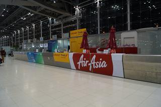The mission of AirAsia at the airport Bangkok Suvarnabhumi