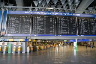 Check-in area in Terminal 1 at Frankfurt Airport