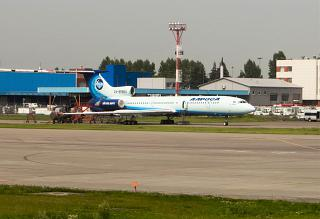 "The Tu-154M RA-85684 of airline ""ALROSA"" in Moscow's Domodedovo airport"