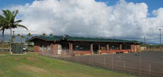 Terminal of local airlines at the airport of Kahului